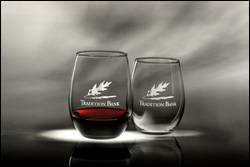 15 oz Stemless Wine Glasses - Deep Etch