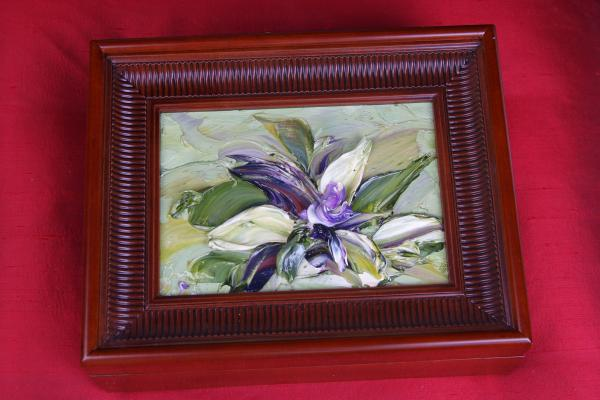 Hand Painted Abstract Decorative Box