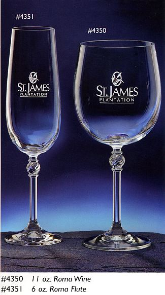 Occasional Wine Glasses with Monogram - 4/set