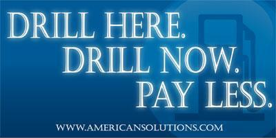 Drill Here Drill Now and Pay Less!