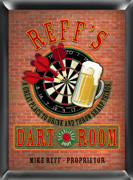 Darts Pub Sign