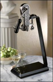 antique pewter champion set with absolute black granite table - Wine Openers