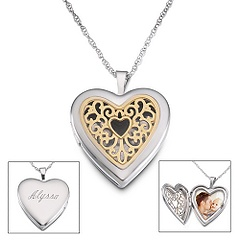 Pierced Heart Locket