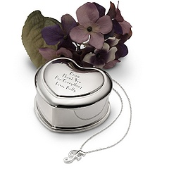 Initial Necklace & Trinket Box