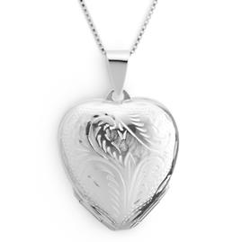 Etched Four Photo Locket