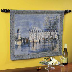 Loire Chateau Tapestry & Rod